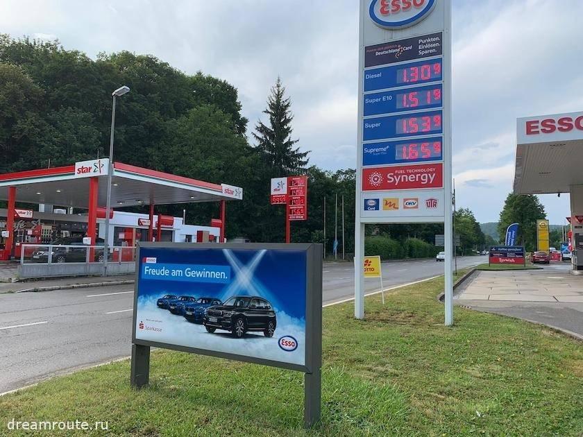 Сколько стоит бензин в германии в рублях в 2021 году?