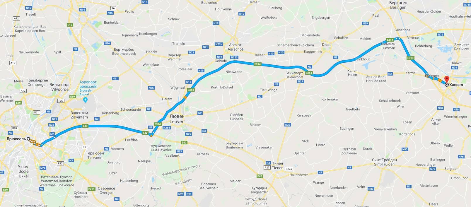 Расстояние между брюсселем и берлином