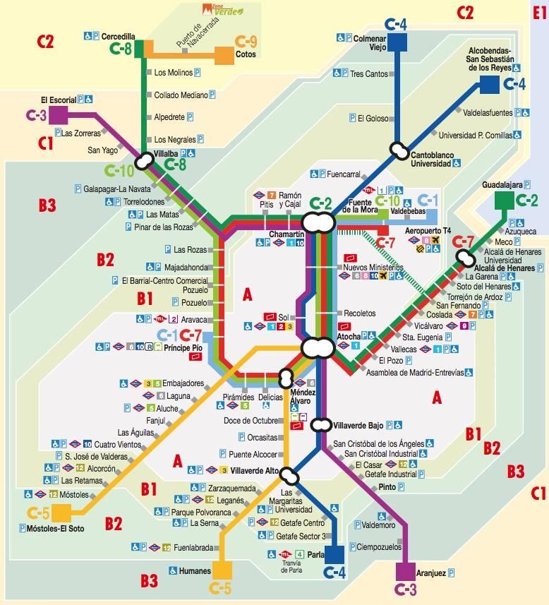 О метро в мадриде: как пользоваться (карта улиц города, развязка)