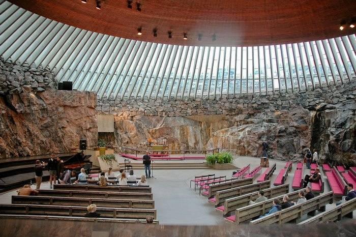 Темппелиаукио - необычная церковь в скале | туристический справочник