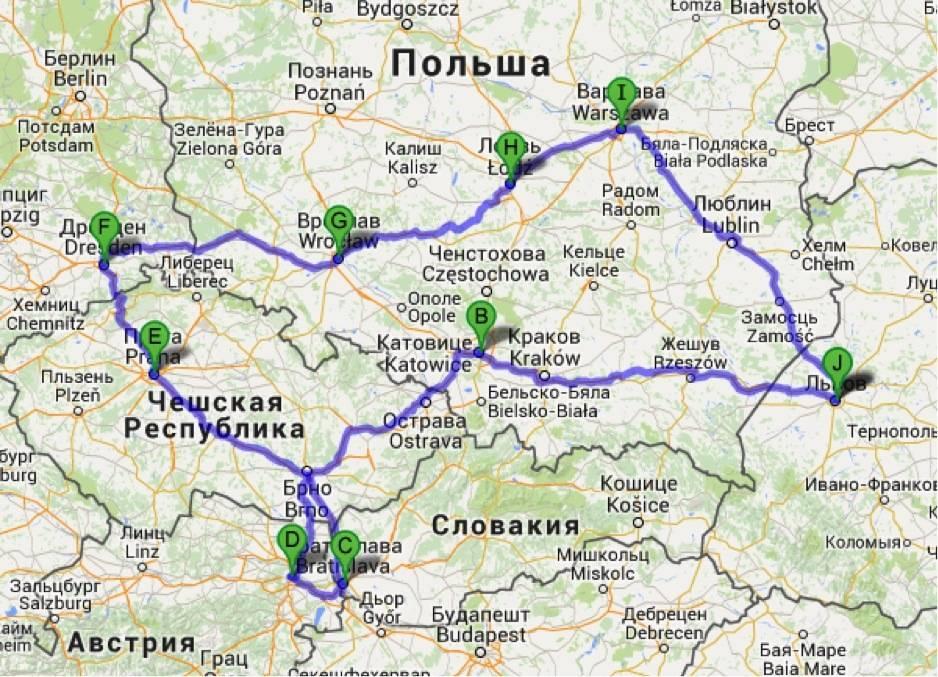 Варшава - прага: как добраться, какое расстояние?