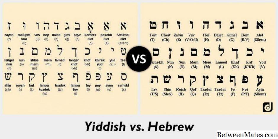 ᐉ иврит и идиш ➡ в чем разница между двумя языками