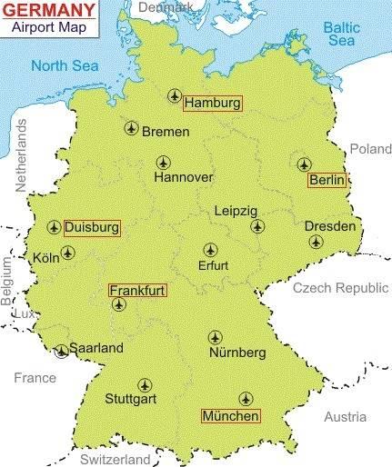 Аэропорты германии