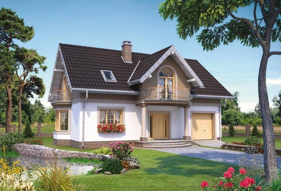 Польские проекты домов и коттеджей с гаражом. проекты польских домов и коттеджей