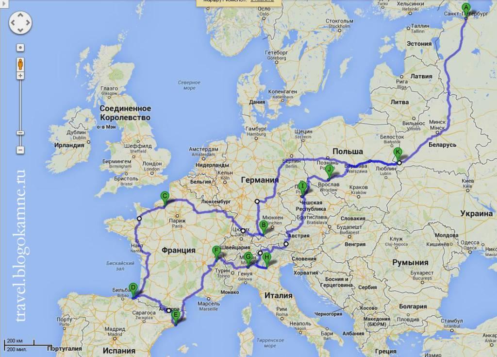 Путешествие в европу из москвы на машине. как все организовать — staff-online
