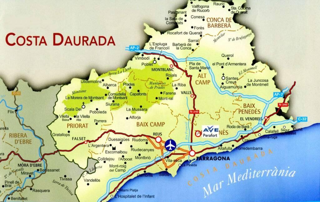 Коста брава (costa brava) испании на карте: курорты, города, побережье, где находится, море, где лучше отдыхать, описание — barcelona realty group