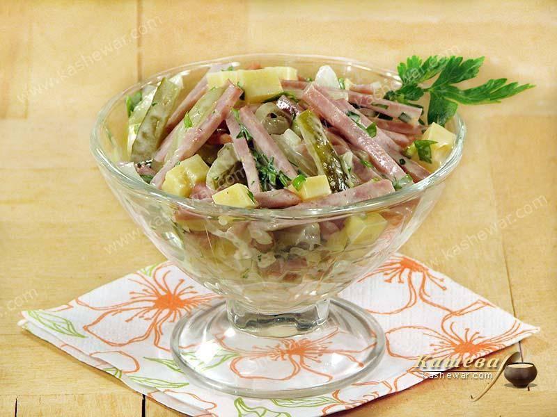 Салат с колбасой «старый мюнхен» - рецепт с фото. салат «старый мюнхен.