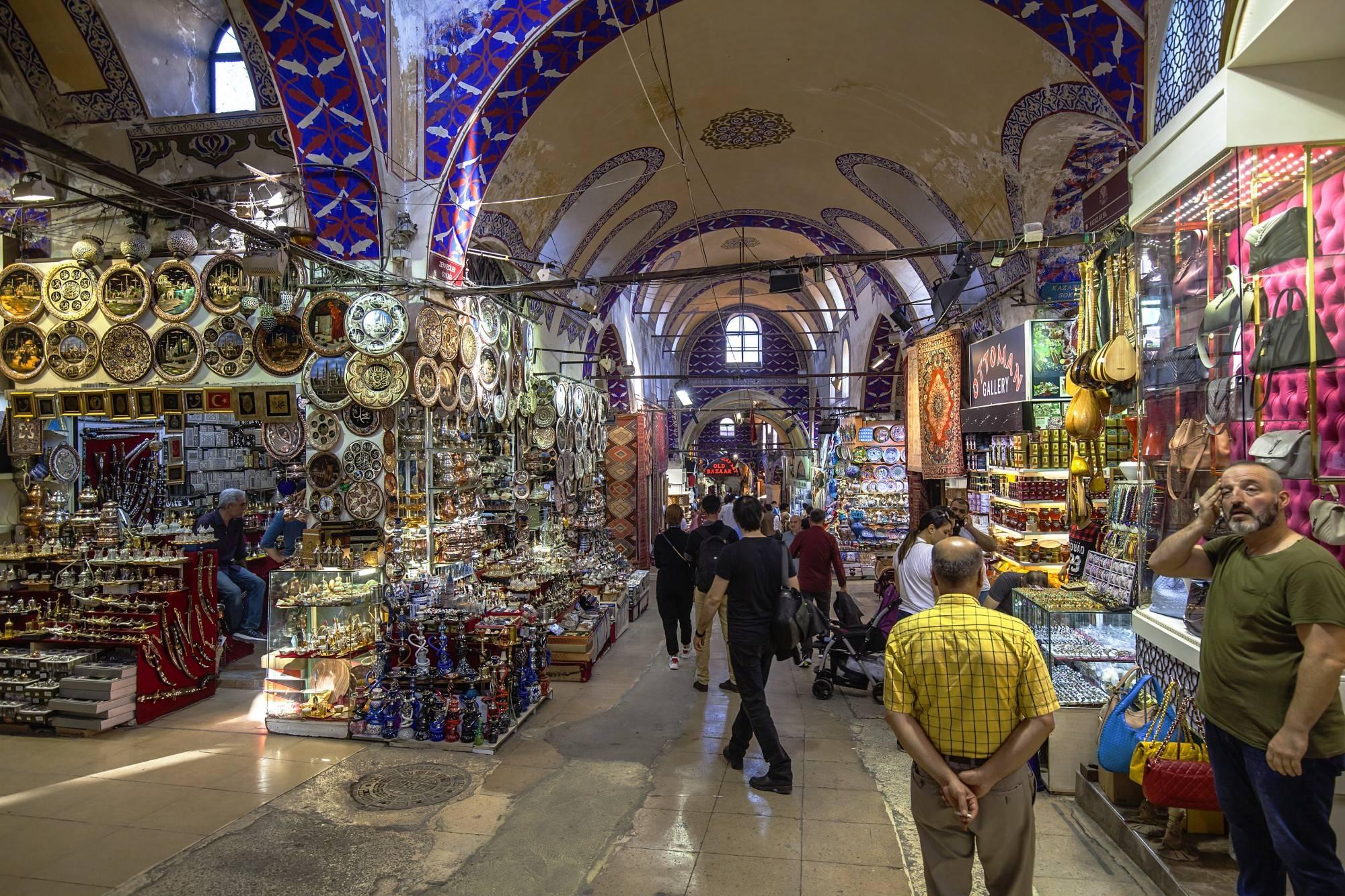 Базары стамбула. гранд базар. египетский базар.