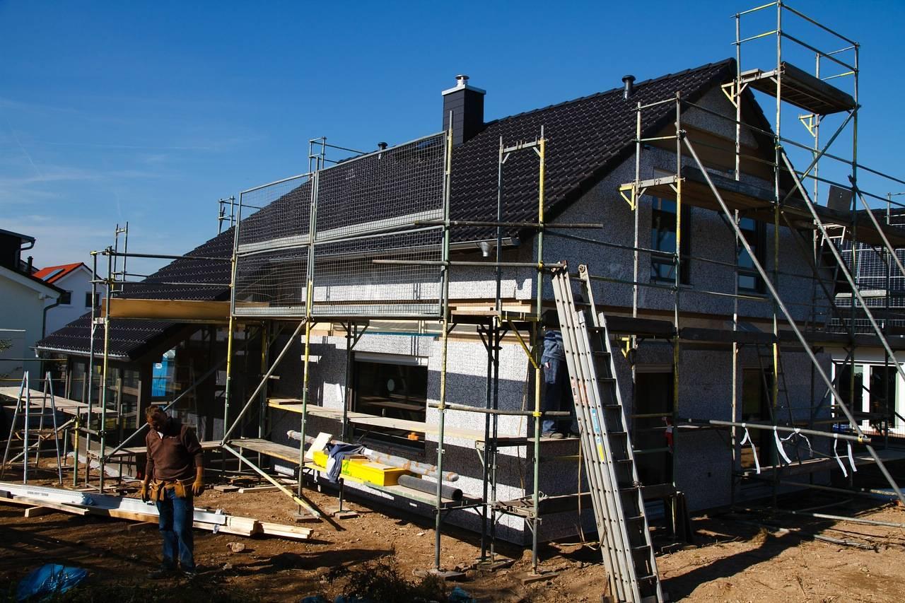 Вид постройки дома в германии