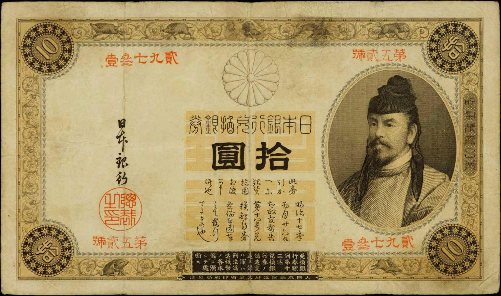 Валюта японии - йена. деньги купюры