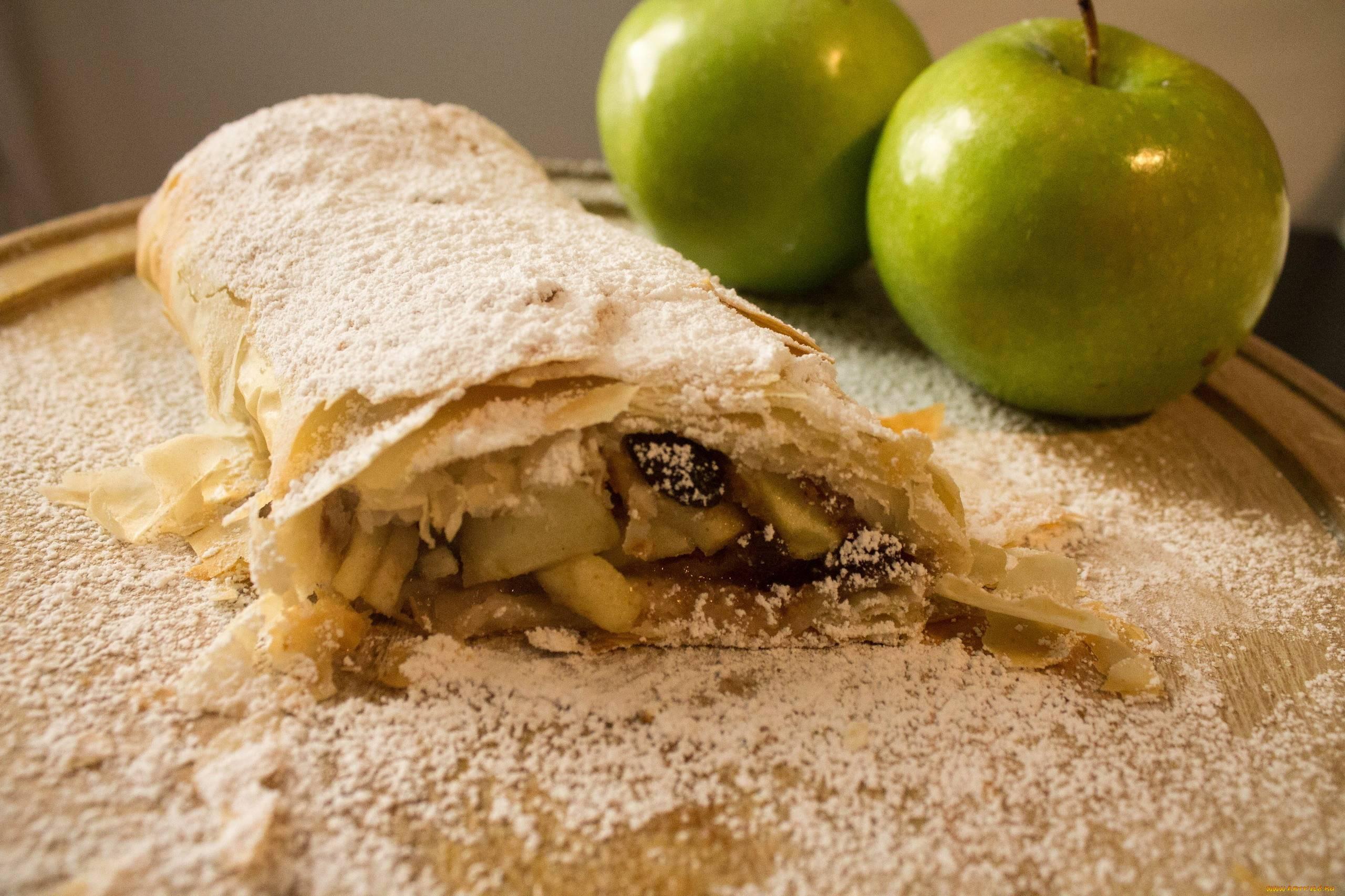 Штрудель с яблоками: 5 фото-рецептов настоящего венского десерта