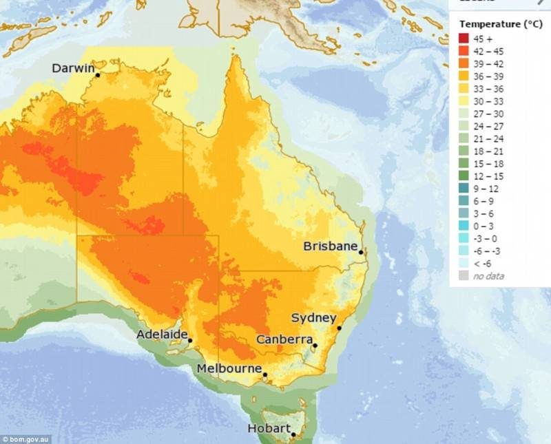 Погода в австралии зимой