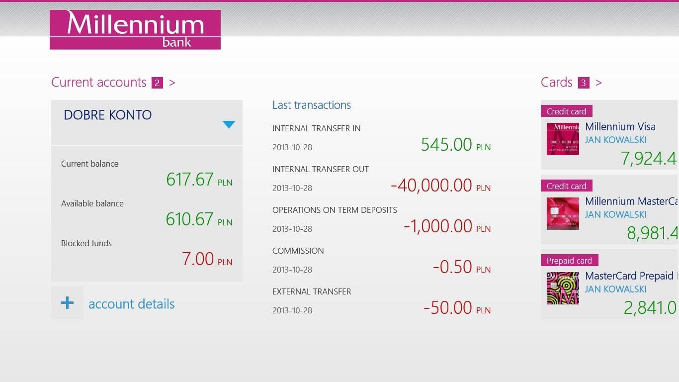 Kontakt - klienci indywidualni - bank millennium