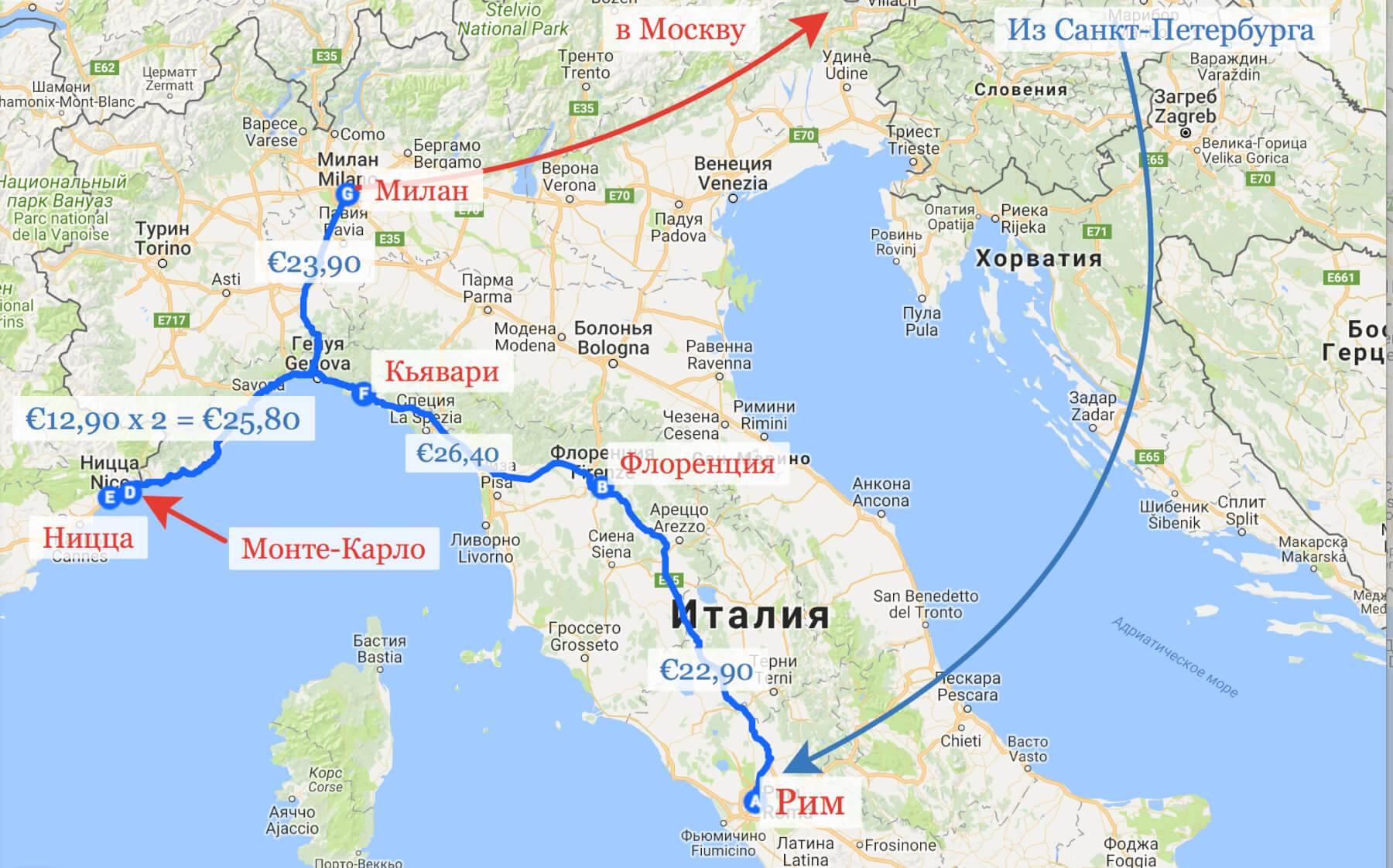 Из италии в испанию как добраться | vasque-russia.ru