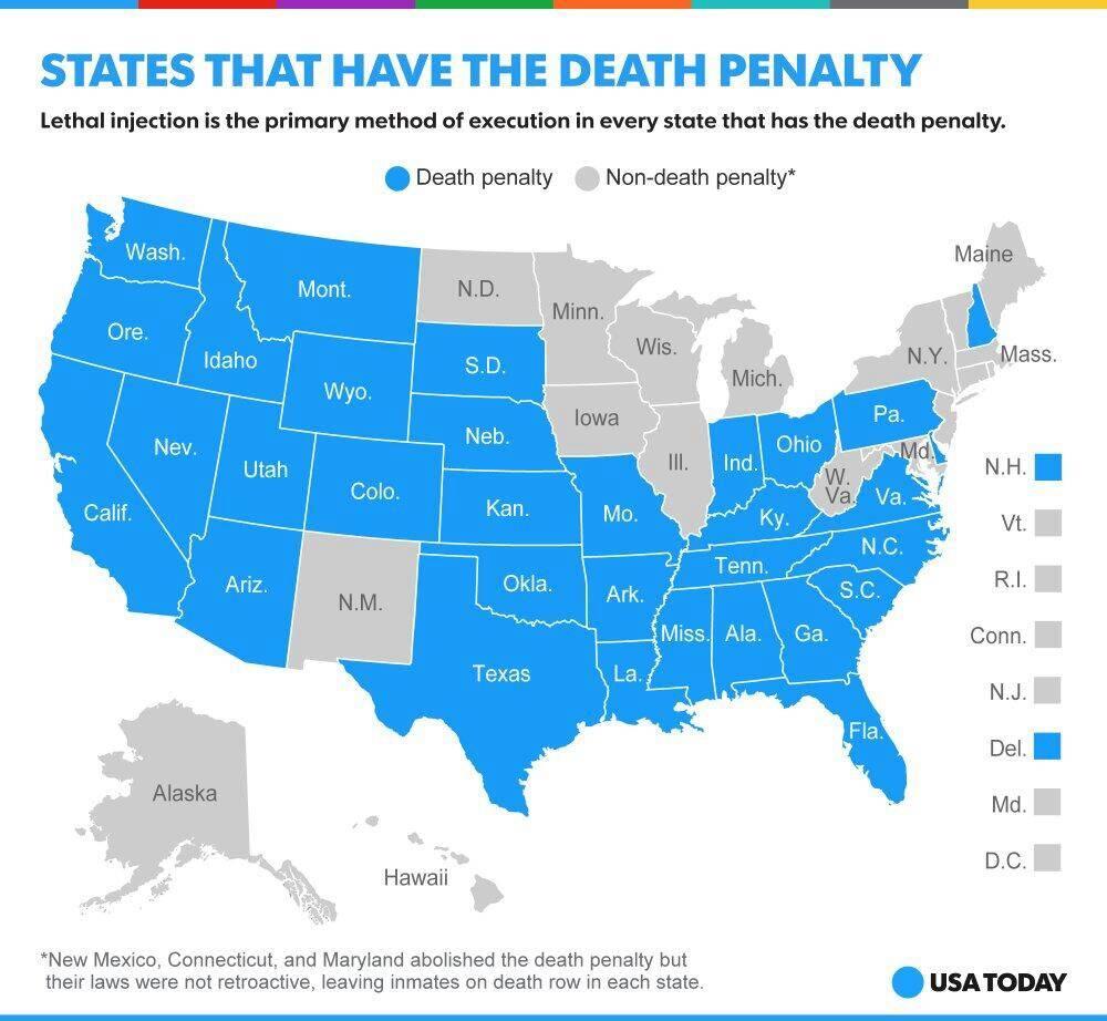 Приговоренные к смертной казни в сша, в т.ч. оправданные посмертно