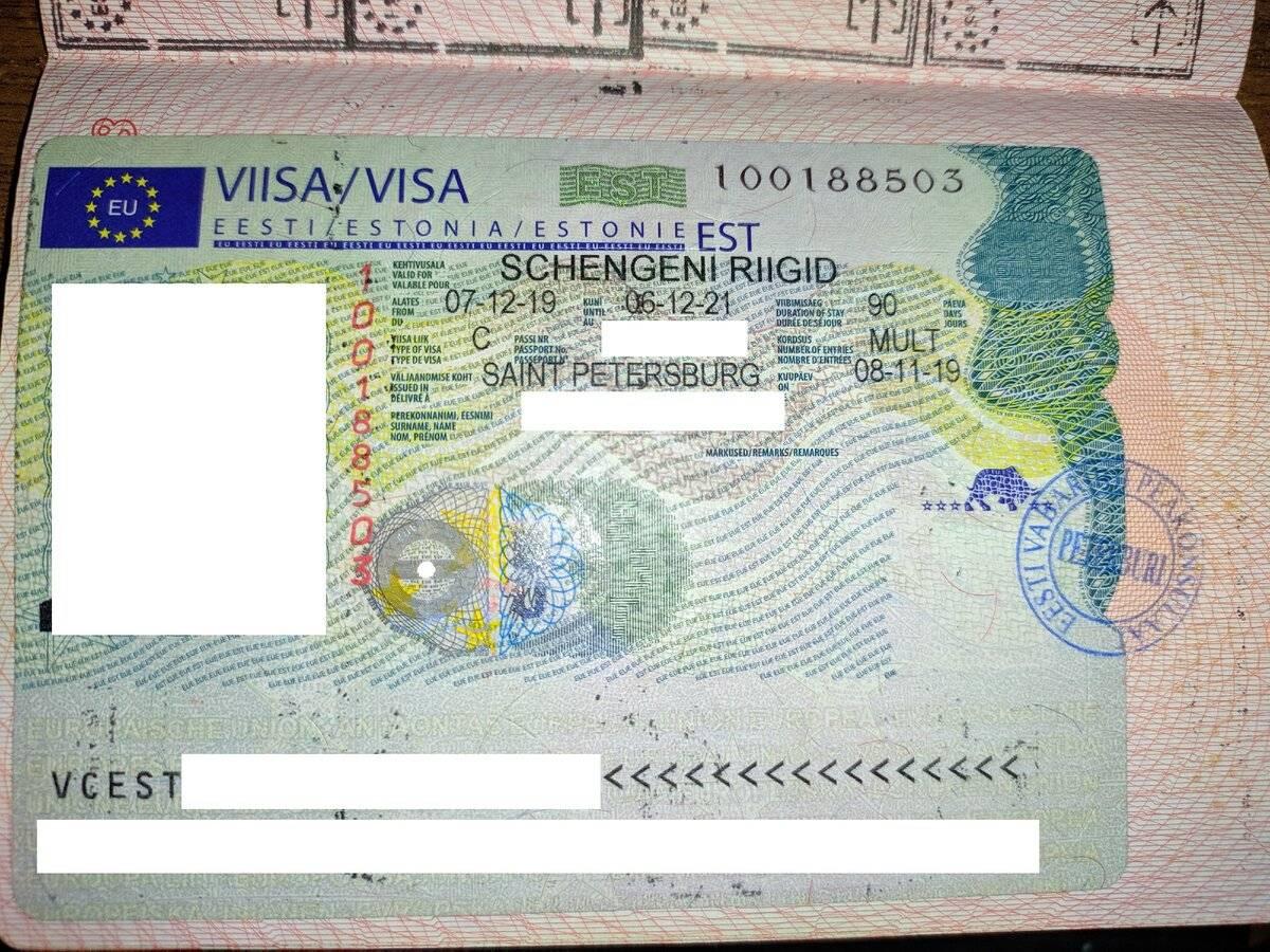 Оформление визы в эстонию для россиян: документы и стоимость