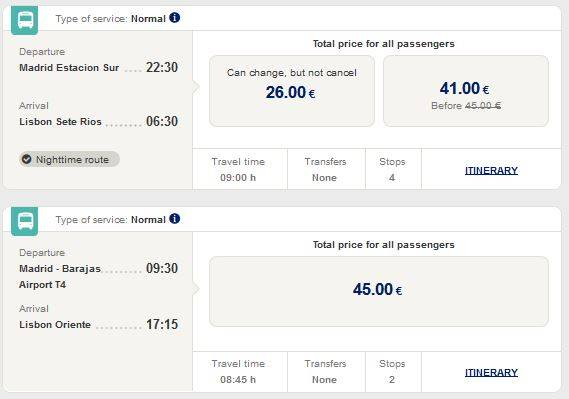 Как добраться из лиссабона в мадрид: автобус, поезд, самолет, машина. расстояние, цены на билеты и расписание 2021 на туристер.ру