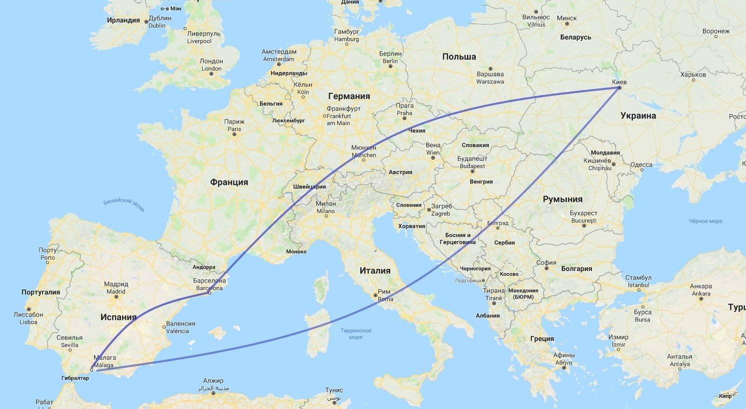 Как быстро добраться из Малаги в Лиссабон