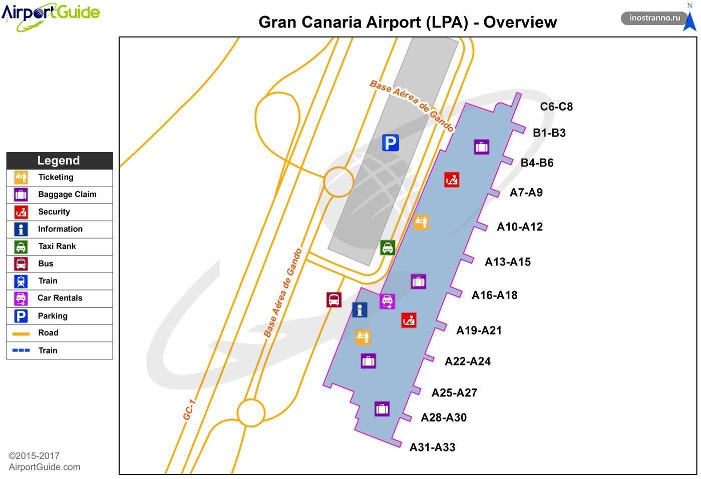 Аэропорт гран канария, как добраться из аэропорта гран канария в отель