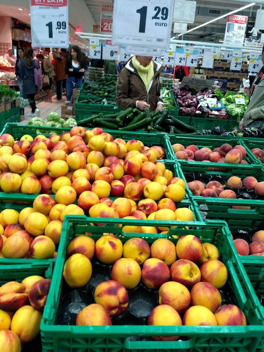 Цены на еду в италии — 2021 (в кафе и на продукты)