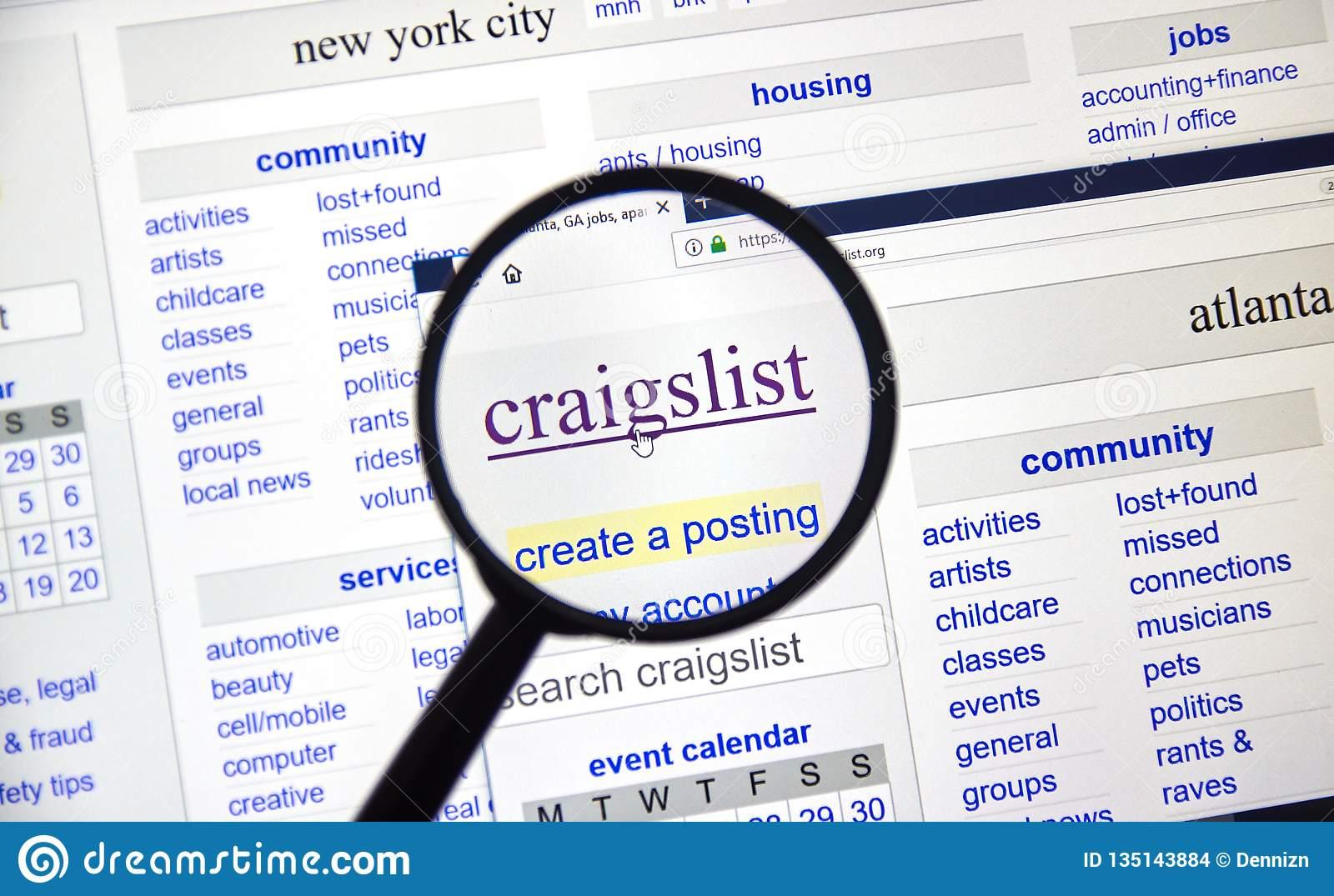CraigList — самая популярная доска объявлений в Америке
