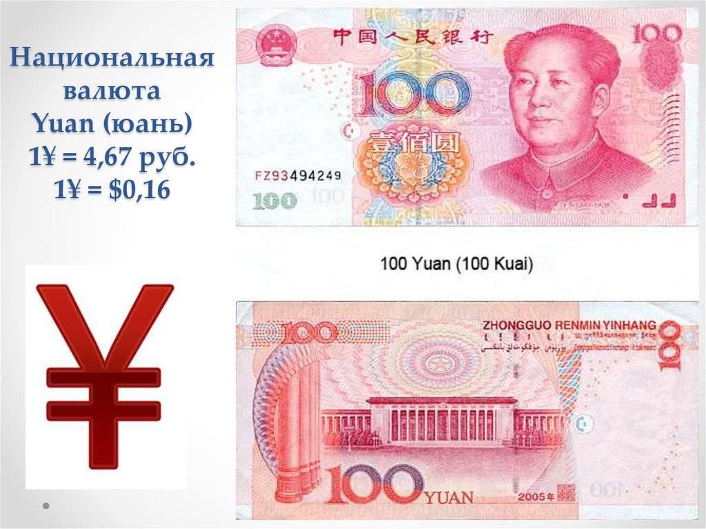 Курс китайского юаня к рублю на сегодня