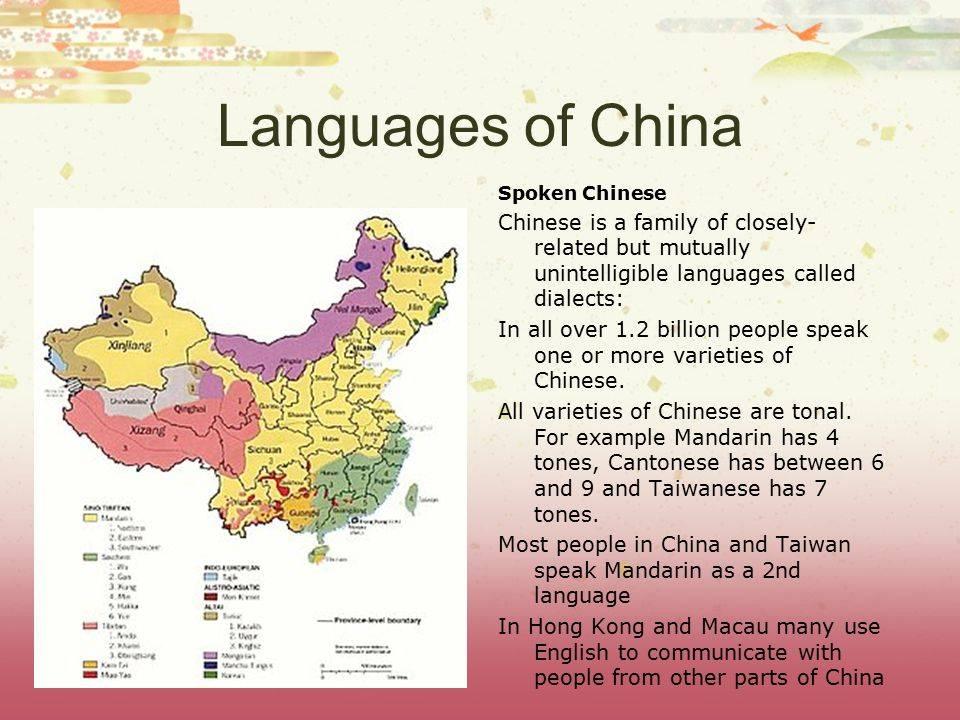 Особенности китайской лингвистики и диалекты китайского языка