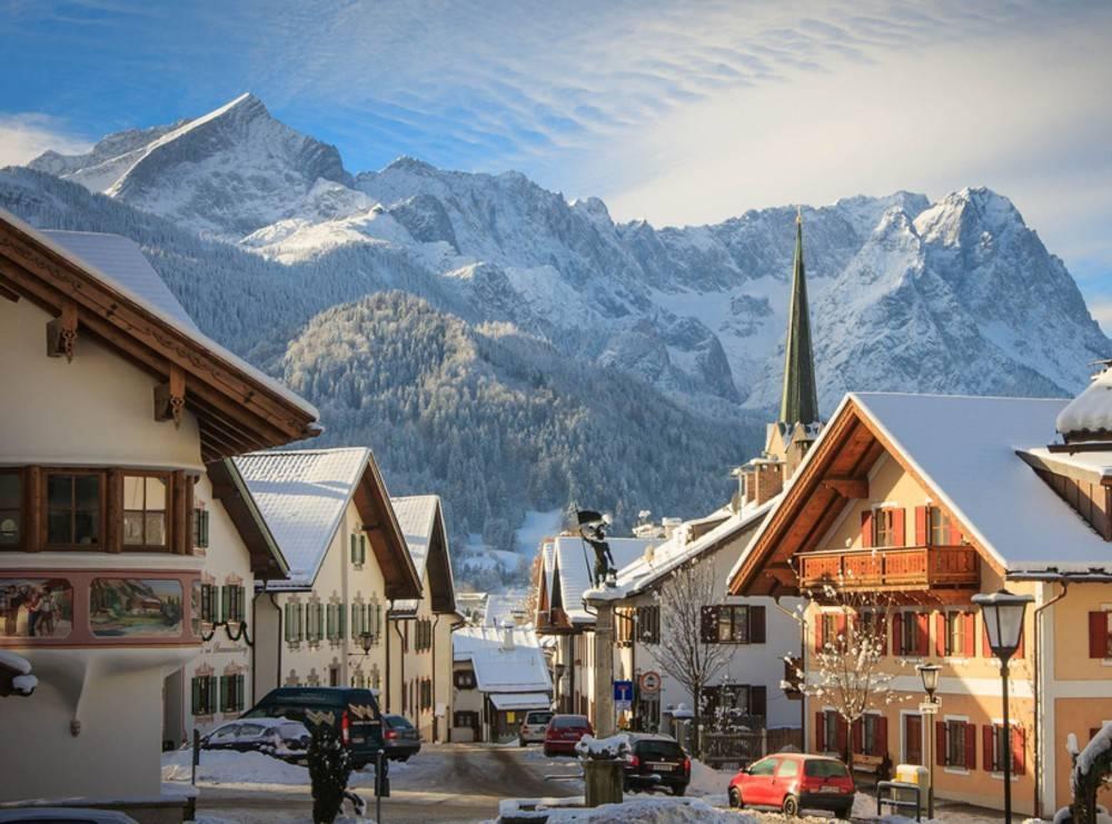 Гармиш-Партенкирхен – лучший горнолыжный курорт в немецких Альпах