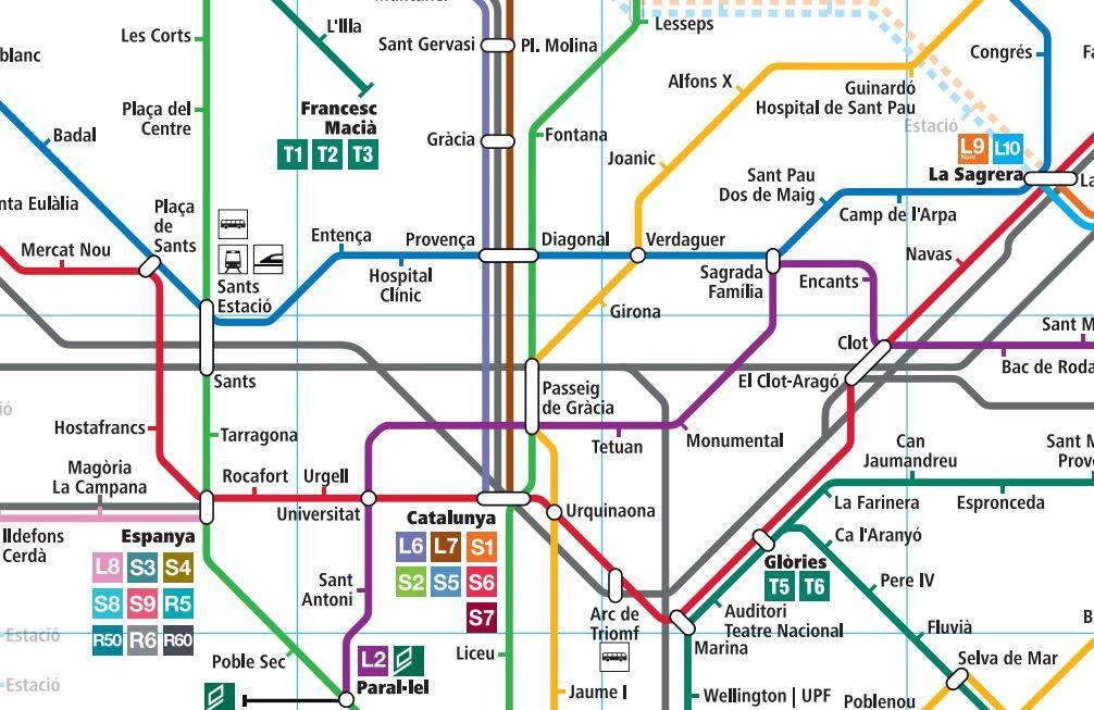Барселона за 1, 2, 3 и 4 дня, маршруты на карте, фото