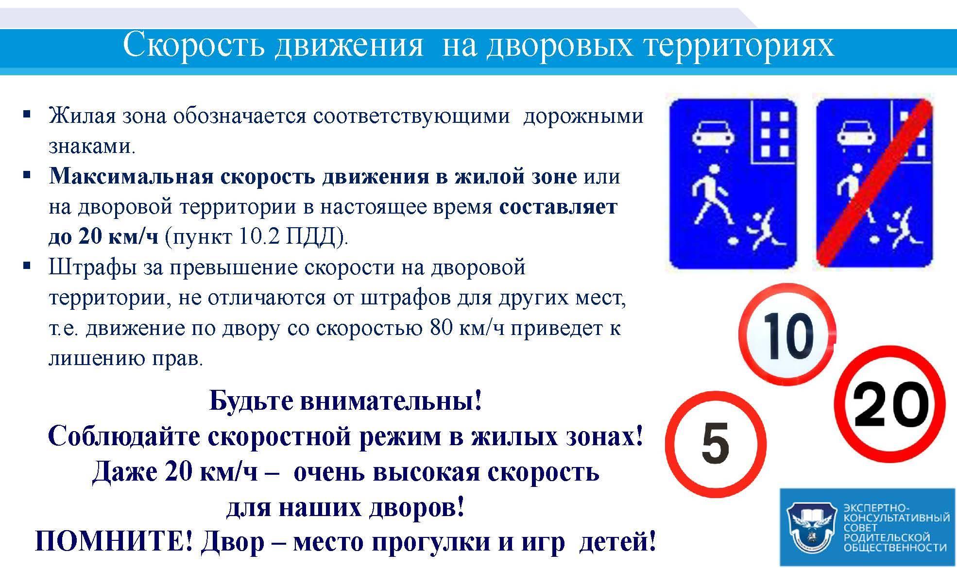 Какие скоростные ограничения установлены по правилам на участках дорог и знаками?