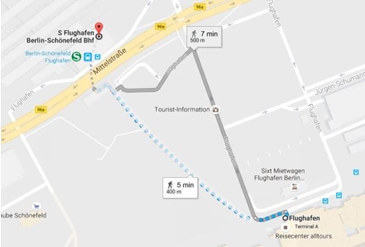 Как добраться до центра берлина из аэропорта шенефельд?