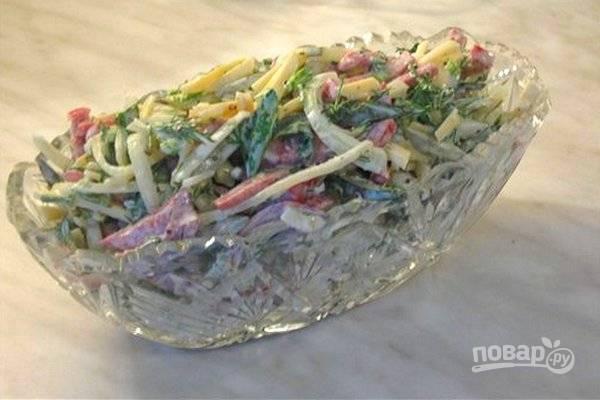 """Готовим пикантный салат """"мюнхен"""" по традиционному рецепту"""