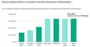 Средняя зарплата программиста в россии в 2020 году