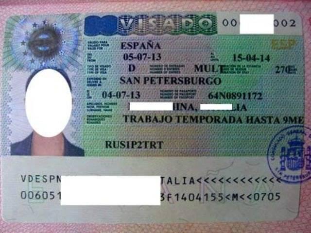 Виза в испанию: порядок оформления визы в испанию