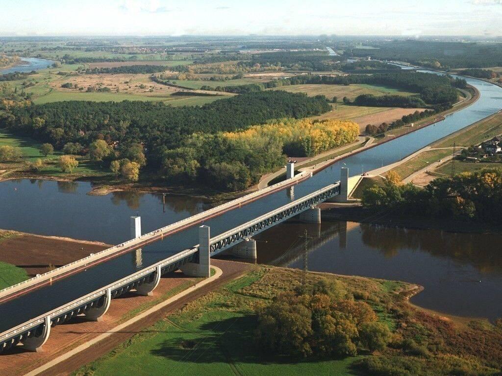 Магдебургский водный мост в германии: история строительства судоходного моста