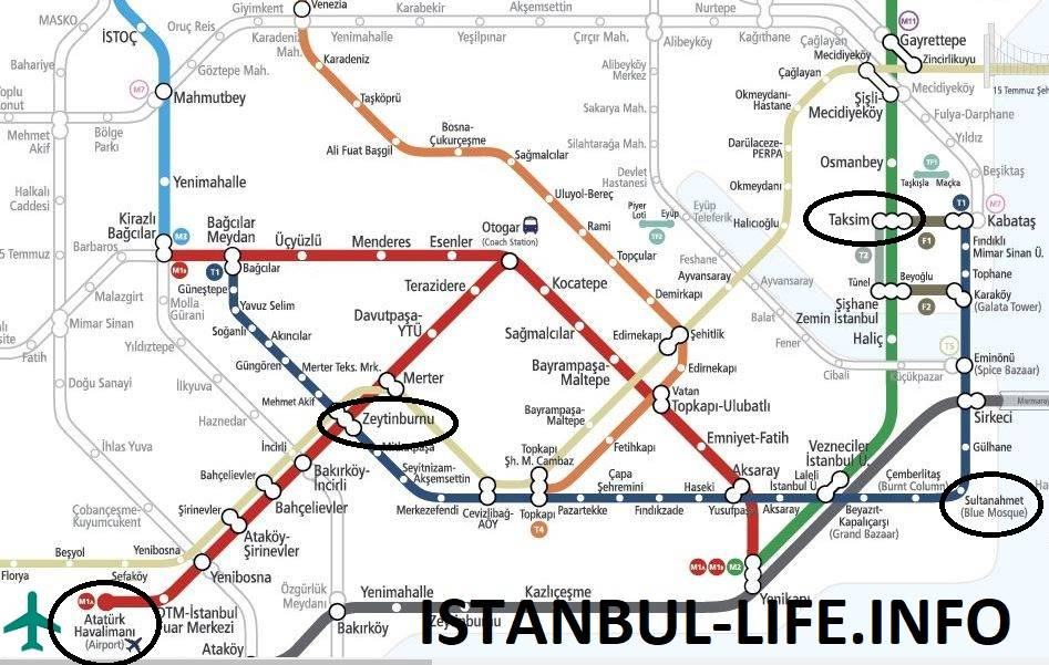 Метробус в стамбуле: карта, схема маршрута, цена проезда