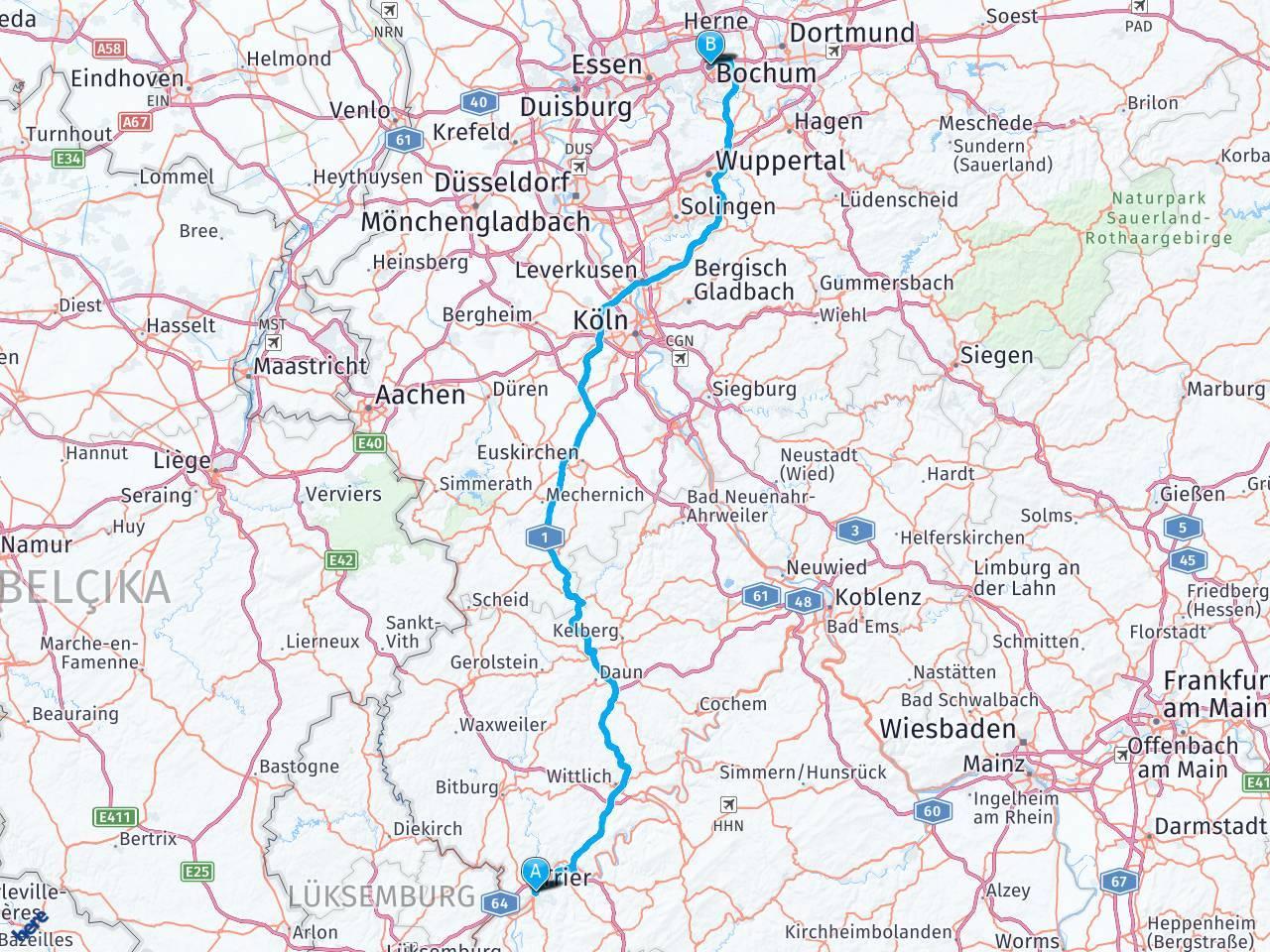 Расписание рейсовых автобусов из дюссельдорфа в фёль