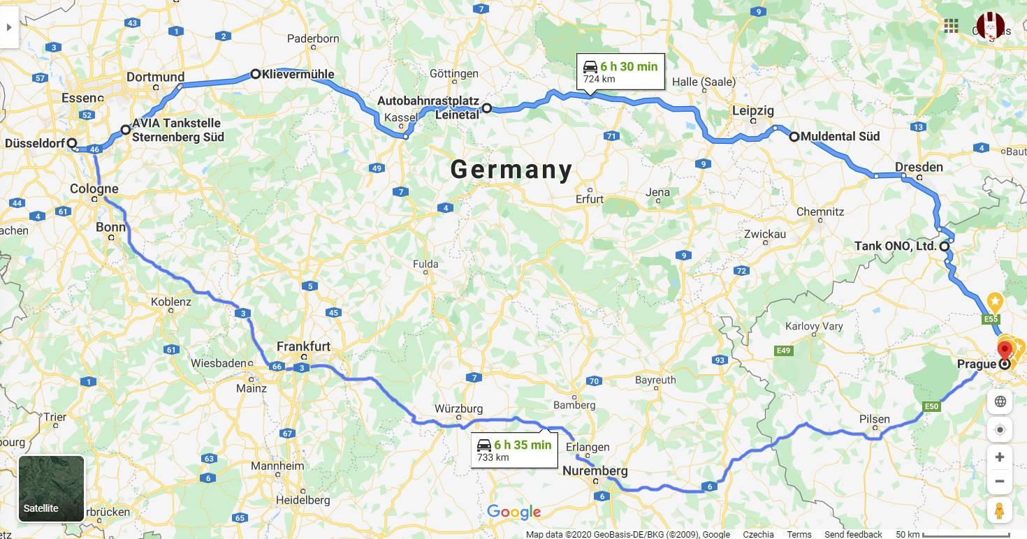 Как можно добраться из дюссельдорфа в дортмунд