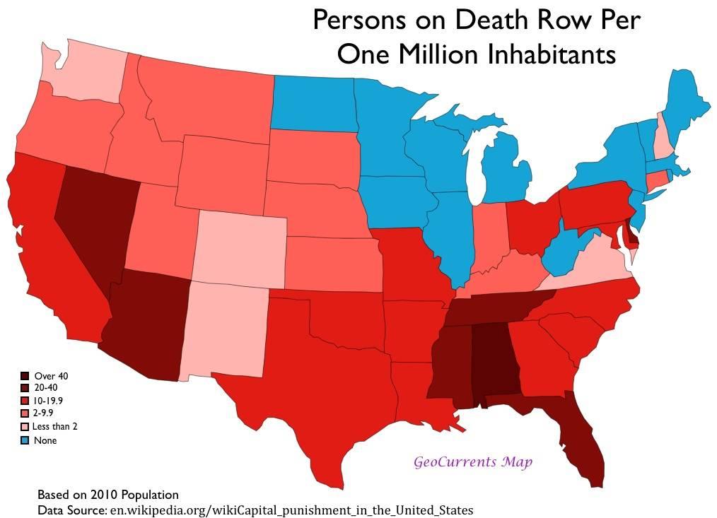 Смертная казнь в сша. в каких штатах сша есть смертная казнь?