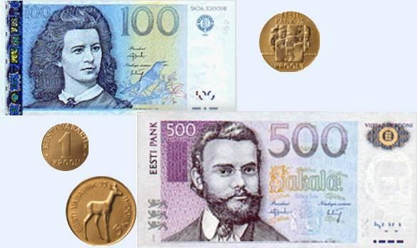 Как называется денежная единица в эстонии сейчас и какая валюта была в прошлом?
