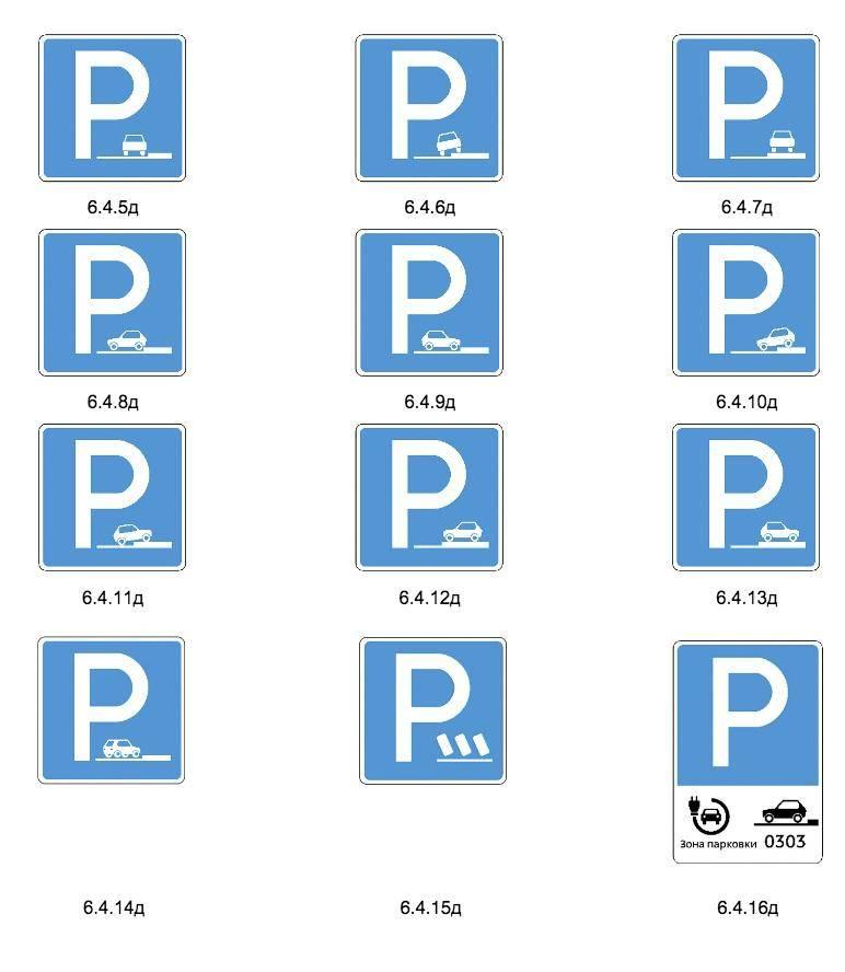 Знак 6.4 - парковка (парковочное место)