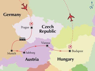 Тур «чехия - венгрия - австрия»   (10 дней) (без ночных переездов!)
