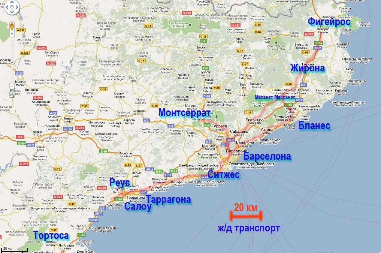 Барселона - ллорет-де-мар: расстояние, как добраться