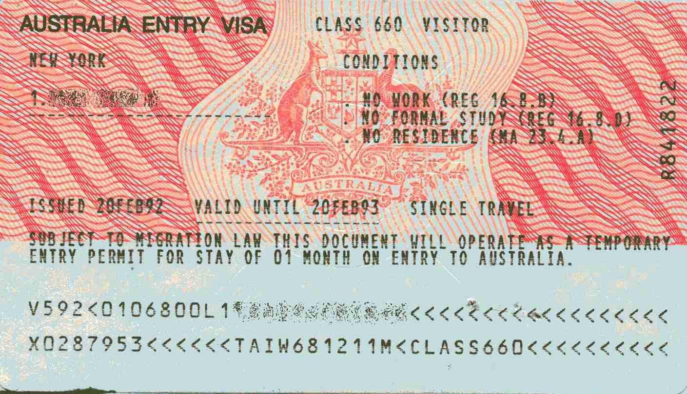 Виза в австралию для россиян: порядок оформления (фото + видео)