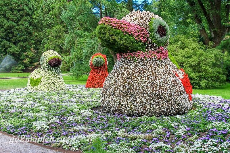 Майнау остров цветов на боденском озере в германии