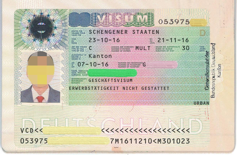 Шенгенская виза в германию, необходимые документы