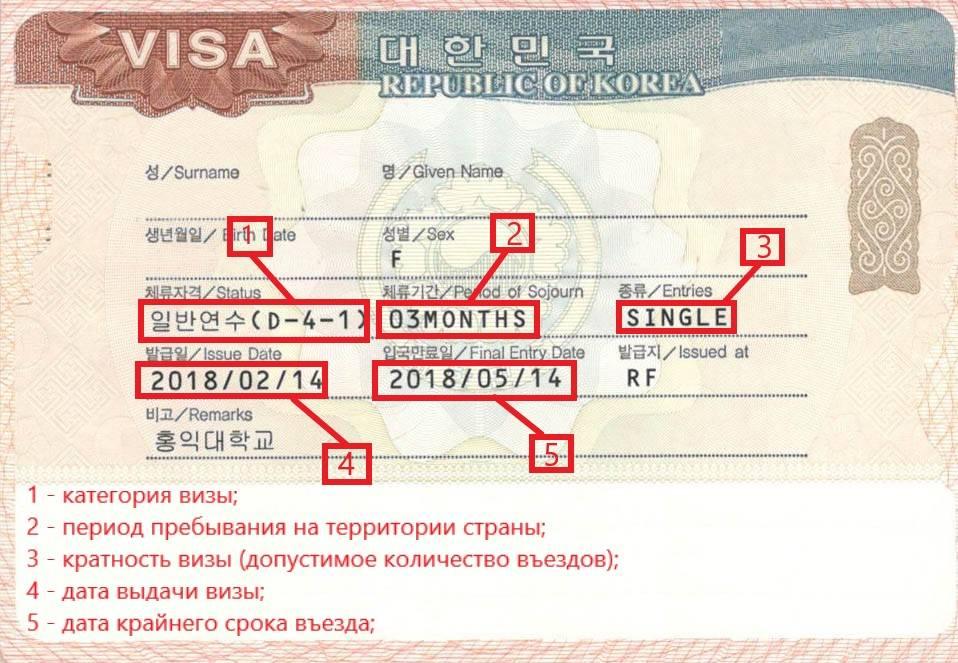 Виза в корею для россиян: тонкости получения документа (фото + видео)