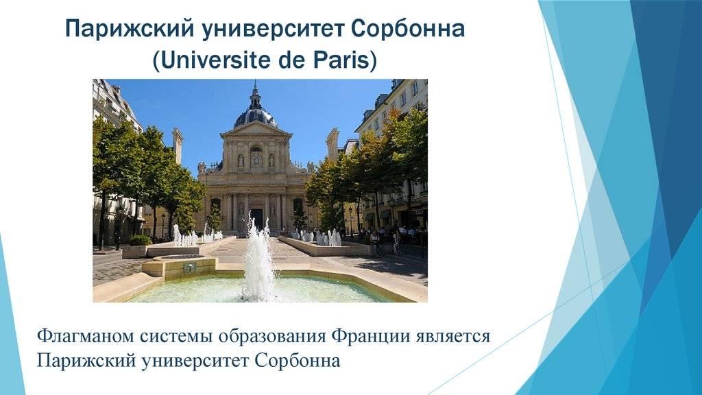 Университет сорбонна