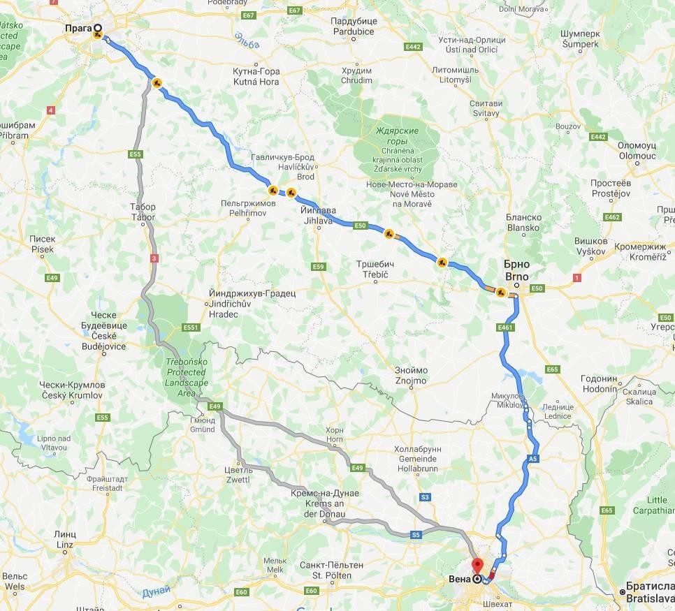 Как добраться из праги в вену на поезде, автобусе, машине - austriatogo