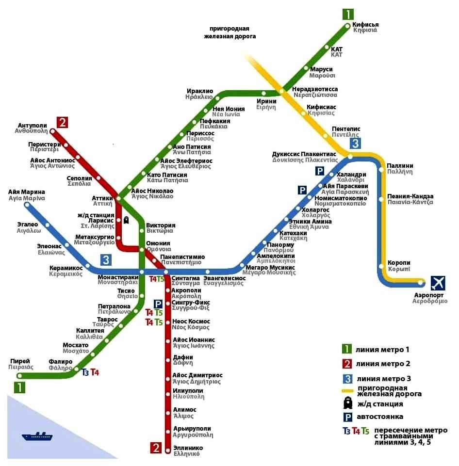 Городской транспорт афин: коротко о главном | on trips